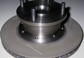 Titanium Drive Flanges, With Integral Brake Disc Bell
